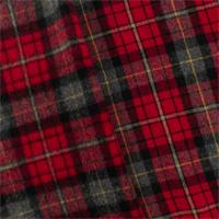 *1 7/8 YD PC--Red Wool Plaid Flannelette