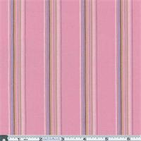 *3 1/2 YD PC--Pink Stripe Poplin Shirting