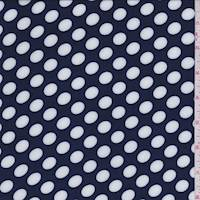 Navy/White Polka Dot Challis