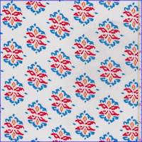 White Multi Medallion Rayon Crepon