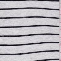 Heather Grey/Black Stripe Jersey Knit