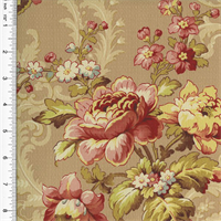 *3 YD PC--Designer Blush Pink Cotton Floral Print Decorating Fabric