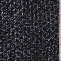 *1 1/2 YD PC--Black Crochet Sweater Knit