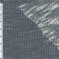 *1/2 YD PC--Navy/White Boucle/Slub Textured Knit