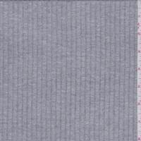 Pearl Heather Grey Ribbed Sweater Knit