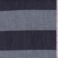 *2 3/8 YD PC--Navy Stripe Denim