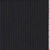 *2 YD PC--Black/Whisper Grey Pinstripe Wool Suiting