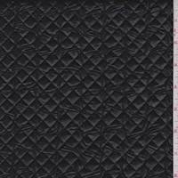 *2 1/2 YD PC--Black Patent Quilted Knit