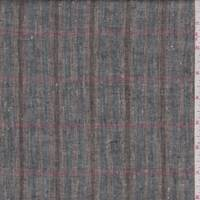 Brown/Blue/Rose Plaid Linen Blend