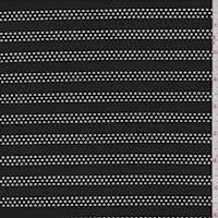 *2 3/4 YD PC--Black Mesh Stripe Activewear