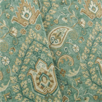 *7 1/2 YD PC--Teal/Multi Mill Creek Paisley Print Home Decorating Fabric