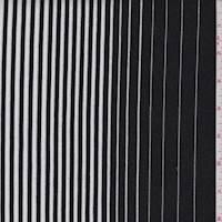 Black/White Stripe Double Knit