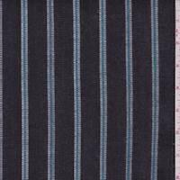 Black/Aqua/White Stripe Denim