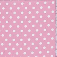 Creamy Pink/White Polka Dot Textured Liverpool Knit