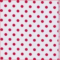 White/Crimson Polka Dot Textured Liverpool Knit