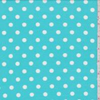 Turquoise/White Polka Dot Textured Liverpool Knit