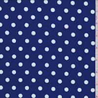 Cobalt/White Polka Dot Textured Liverpool Knit