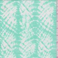 Mint Batik Print Textured Liverpool Knit