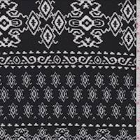 Black/White Inca Stripe Textured Liverpool Knit