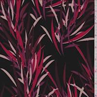 Black/Burgundy/Beige Textured Liverpool Knit
