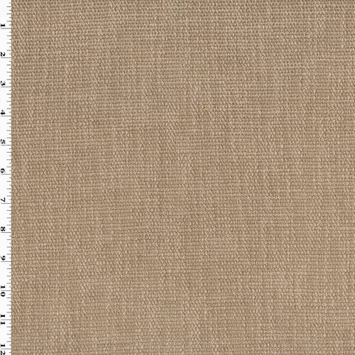 Fabric By The Yard Toasted Beige Square Chenille Woven Home Decorating Fabric