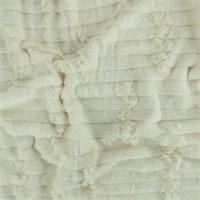 *1 YD PC--Cream White Ultra Soft Faux Fur