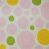 *1/2 YD PC--White/Pink Dream Dot Fleece