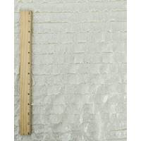 *1 YD PC--Cream Ivory/Silver Cheetah Print Ruffle Knit