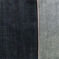 *1 3/4 YD PC--Navy Blue Cotton Slub Japanese Selvedge Vintage Denim