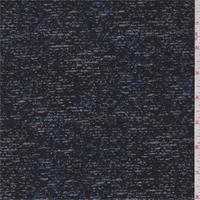 *3 1/8 YD PC--Carbon Black Slubbed Suiting