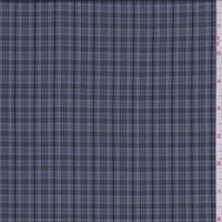 Grey/Navy Plaid Tropical Wool Suiting