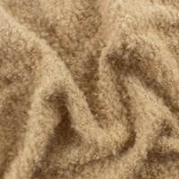 *1/2 YD PC--Latte Beige Wool Boucle Knit Jacketing