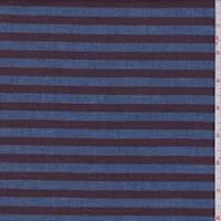 Sky/Maroon Stripe Linen