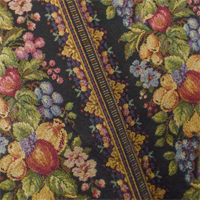 *2 YD PC--Multi Texnova Fruit Floral Stripe Tapestry Decor Fabric