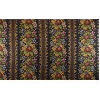 *2 YD PC--Multi Texnova Fruit Floral Stripe Tapestry Decor Fabric