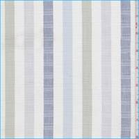 White/Sage/Grey Stripe Linen Blend