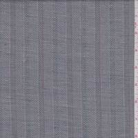 Dove Grey Herringbone Stripe Linen Blend Suiting