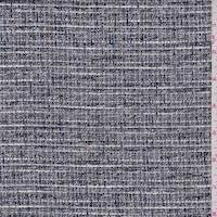 *2 1/2 YD PC--Black/White/Grey Rayon Blend Suiting