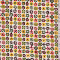 *3 YD PC--Ivory Floral Motif Cotton Shirting