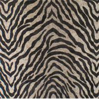 *1 1/2 YD PC--Brown/Beige Zebra Jacquard Home Decorating Fabric
