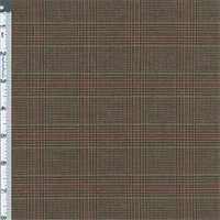 *4 7/8 YD PC--Brown/Golden Wheat Glenplaid Suiting