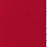 *2 7/8 YD PC--Bright Red Polyester Fleece