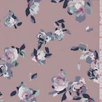 *1 1/2 YD PC--Blush Rose Floral Activewear
