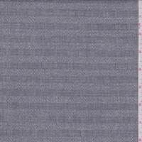 Dark Grey Twill Check Linen Blend Suiting