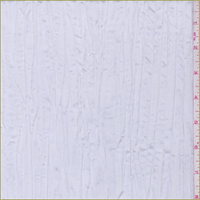 *3 3/4 YD PC--Bridal White Crushed Polyester Taffeta