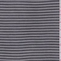 *4 7/8 YD PC--Black/White Stripe Voile