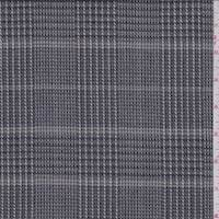 Dove Grey Plaid Wool Suiting