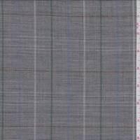 Soft Black Multi Plaid Tropical Wool Suiting