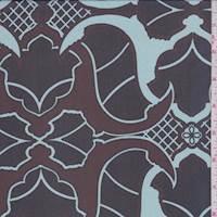 Mahogany/Black Baroque Silk Chiffon