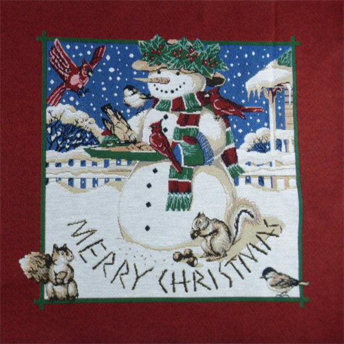 6 Panel Pc Multi Christmas Snowman Tapestry Decorating